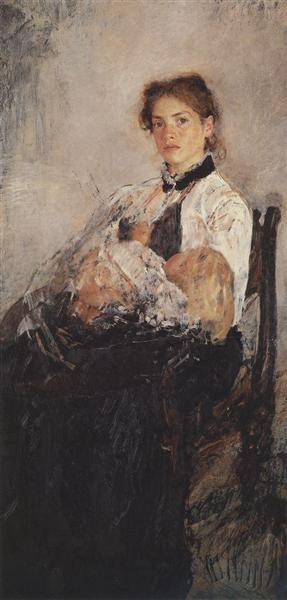portrait of nadezhda derviz with her child 1888 89 XX the tretyakov gallery moscow russia